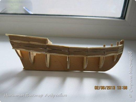 Вашему вниманию предлагается каравелла Нинья, одно из судов Колумба. Процесс изготовления тот же, что и в моей работе по созданию китайской Джонки. Во всех моих работах покупается только клей и краски. Остальные материалы - это как правило отслуживший деревянный мусор :-) фото 3