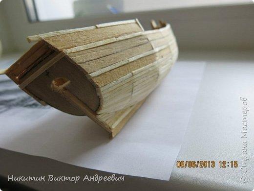 Вашему вниманию предлагается каравелла Нинья, одно из судов Колумба. Процесс изготовления тот же, что и в моей работе по созданию китайской Джонки. Во всех моих работах покупается только клей и краски. Остальные материалы - это как правило отслуживший деревянный мусор :-) фото 7