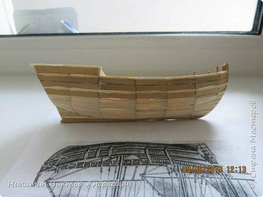 Вашему вниманию предлагается каравелла Нинья, одно из судов Колумба. Процесс изготовления тот же, что и в моей работе по созданию китайской Джонки. Во всех моих работах покупается только клей и краски. Остальные материалы - это как правило отслуживший деревянный мусор :-) фото 6