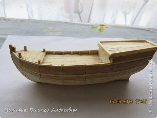 Вашему вниманию предлагается каравелла Нинья, одно из судов Колумба. Процесс изготовления тот же, что и в моей работе по созданию китайской Джонки. Во всех моих работах покупается только клей и краски. Остальные материалы - это как правило отслуживший деревянный мусор :-) фото 11