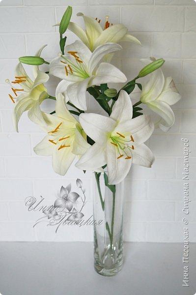 Букет лилий для моего любимого, замечательного человечка, моей родной сестренке Иришки, большой любительницы этих чудесных цветов.  фото 3