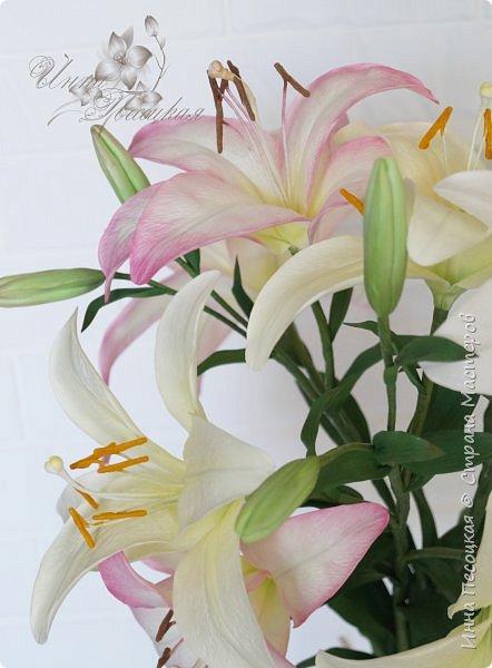 Букет лилий для моего любимого, замечательного человечка, моей родной сестренке Иришки, большой любительницы этих чудесных цветов.  фото 2