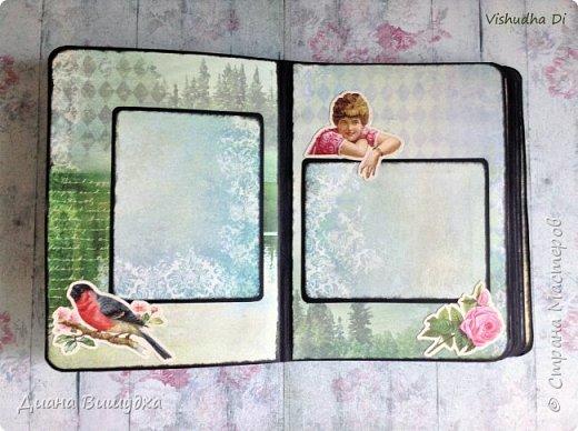 """Вот такой альбом для фото вышел у меня из бумаги """"Курортный роман"""" от Scrapberris.  Набор, конечно, очень разносторонний во всех отношениях) Видела кучу вариаций использования именно этой серии и в детских работах,и в свадебных... В общем к чему слова, когда можно посмотреть?) фото 3"""
