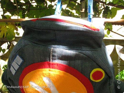 Доброго времени суток, дорогие мастерицы!!! У моего старшего внука день рождения.  Я пошила ему рюкзак помогатор. фото 2