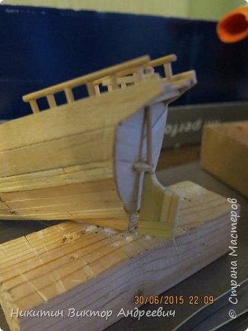 Представляю вашему вниманию модель китайской Джонки. Хочу сразу сказать, что это не копия существовавшего корабля. За основу были взяты сразу несколько моделей, многие детали придумывались самостоятельно. фото 12