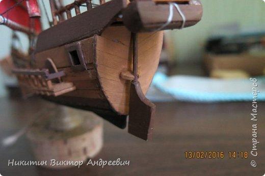 Представляю вашему вниманию модель китайской Джонки. Хочу сразу сказать, что это не копия существовавшего корабля. За основу были взяты сразу несколько моделей, многие детали придумывались самостоятельно. фото 33
