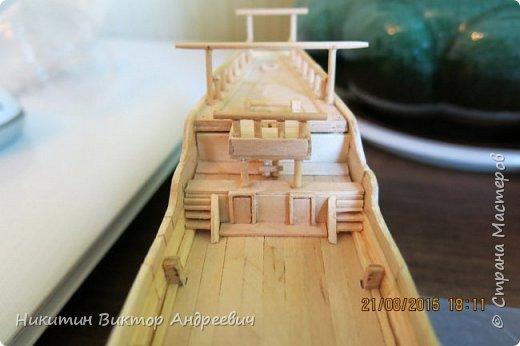 Представляю вашему вниманию модель китайской Джонки. Хочу сразу сказать, что это не копия существовавшего корабля. За основу были взяты сразу несколько моделей, многие детали придумывались самостоятельно. фото 13