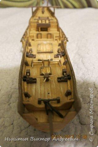 Представляю вашему вниманию модель китайской Джонки. Хочу сразу сказать, что это не копия существовавшего корабля. За основу были взяты сразу несколько моделей, многие детали придумывались самостоятельно. фото 18