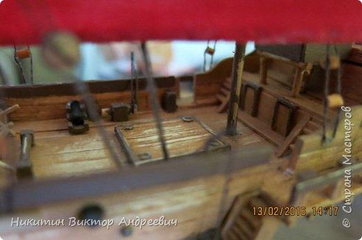 Представляю вашему вниманию модель китайской Джонки. Хочу сразу сказать, что это не копия существовавшего корабля. За основу были взяты сразу несколько моделей, многие детали придумывались самостоятельно. фото 32