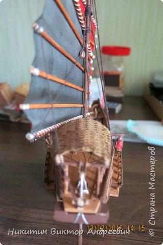 Представляю вашему вниманию модель китайской Джонки. Хочу сразу сказать, что это не копия существовавшего корабля. За основу были взяты сразу несколько моделей, многие детали придумывались самостоятельно. фото 24