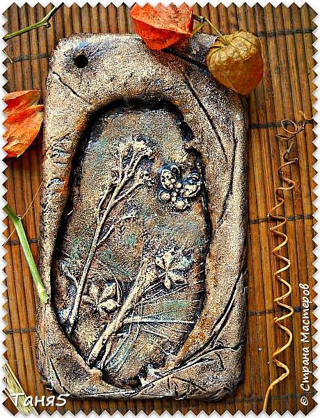 Лето - прекрасная пора!!! Решила увековечить прекрасные творения  МАТУШКИ ПРИРОДЫ  в гипсовых отливках!!!!  Воздвигла, в некотором роде, памятник  нерукотворной красоте, травинке-былинке и разному сорнячку)))))  фото 7