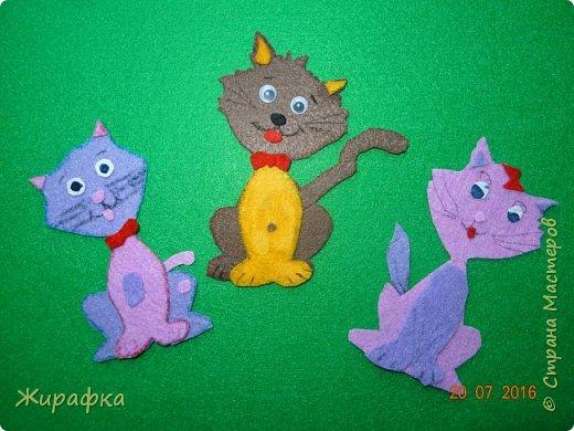 Шаблон один, а котики разные. Справа Калерии, слева Даши, мой в центре. У Калерии явно девочка, а у меня с Дашей пацанчики-хулиганчики. фото 1
