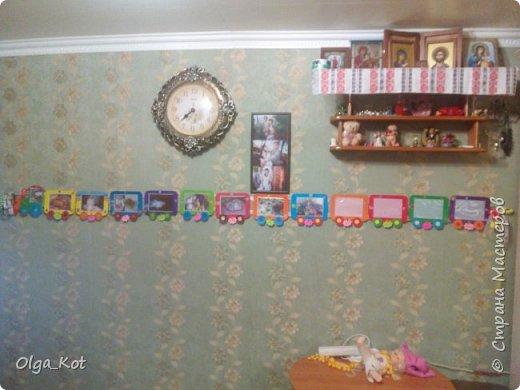 мини МК Паровозик из картона для фотографий на годик доченьки фото 7