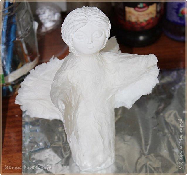 Еще один ангел  из папье маше. Чудный материал и много возможностей. фото 5