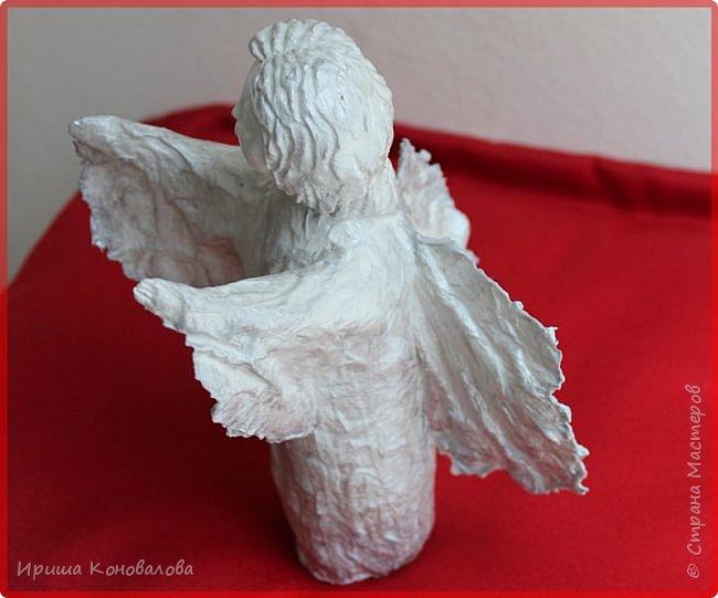Еще один ангел  из папье маше. Чудный материал и много возможностей. фото 4