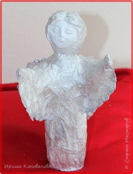 Еще один ангел  из папье маше. Чудный материал и много возможностей. фото 2