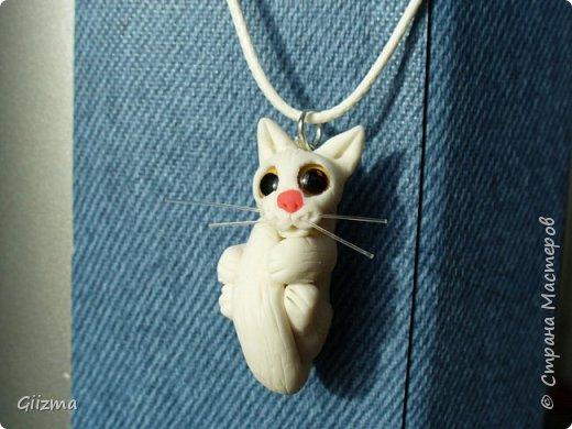 Здравствуйте!  Вот и обещанные рыжий и белый, даже - два белых. Очень надеюсь, что на этом мои очумелые ручки угомонятся и прекратят, наконец, кропать загадочных маленьких зверьков, которых я называю котятами :)  Это первый белый :) фото 1