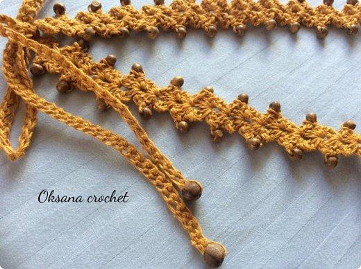 Вязаное бусы. Ручная работа.  фото 3