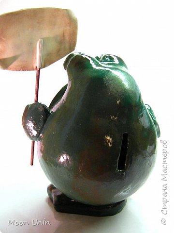 Всем привет1 Я к вам сегодня с лягушкой-копилочкой из папье-маше.  фото 7