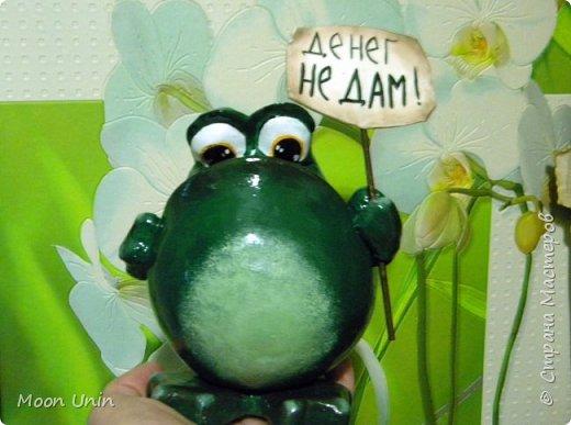 Всем привет1 Я к вам сегодня с лягушкой-копилочкой из папье-маше.  фото 12