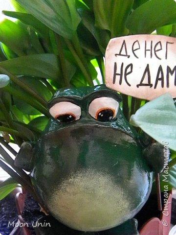 Всем привет1 Я к вам сегодня с лягушкой-копилочкой из папье-маше.  фото 9