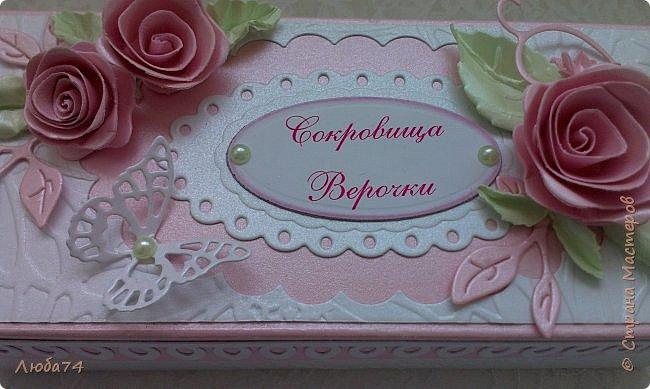 """Всем, добрый вечер!!! Я, снова вернулась в СМ после замечательного отпуска, проведенного в Крыму. Сегодня у меня заказная коробочка с сокровищами для Верочки. Назвала  ее """"Нежность"""". фото 10"""