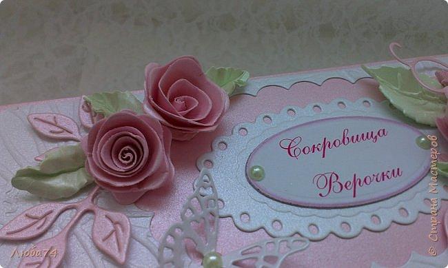 """Всем, добрый вечер!!! Я, снова вернулась в СМ после замечательного отпуска, проведенного в Крыму. Сегодня у меня заказная коробочка с сокровищами для Верочки. Назвала  ее """"Нежность"""". фото 11"""