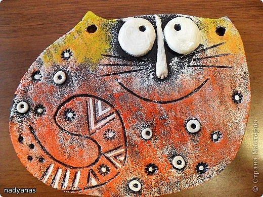 Мои летние соленушки-повторюшки.  За идею лунных котов благодарю Евгешу http://stranamasterov.ru/node/934142?tid=1300 Своим котам добавила орнамент золотым контуром. фото 11