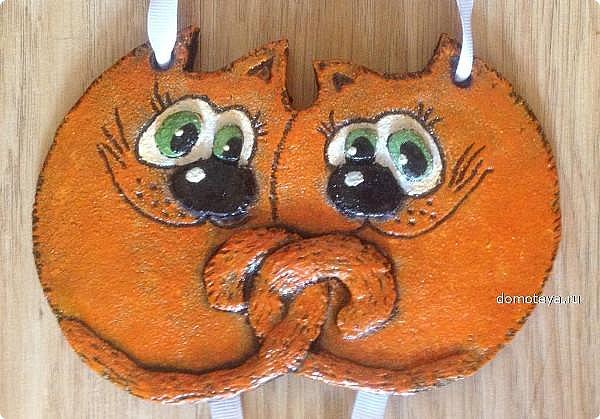Мои летние соленушки-повторюшки.  За идею лунных котов благодарю Евгешу http://stranamasterov.ru/node/934142?tid=1300 Своим котам добавила орнамент золотым контуром. фото 9