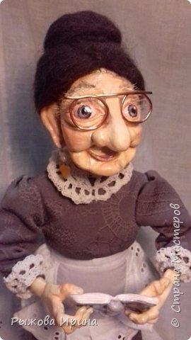Хочу познакомить всех с еще одной моей работой. Это Ефросинья Яковлевна - очень интеллигентная старушка, очень любит читать и обязательно поможет мудрым советом. фото 2