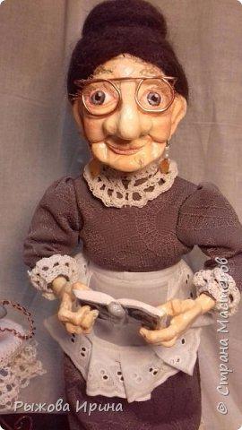 Хочу познакомить всех с еще одной моей работой. Это Ефросинья Яковлевна - очень интеллигентная старушка, очень любит читать и обязательно поможет мудрым советом. фото 3