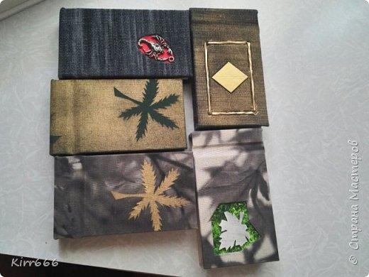 Блокноты из остатков расходных материалов для переплета.  фото 1