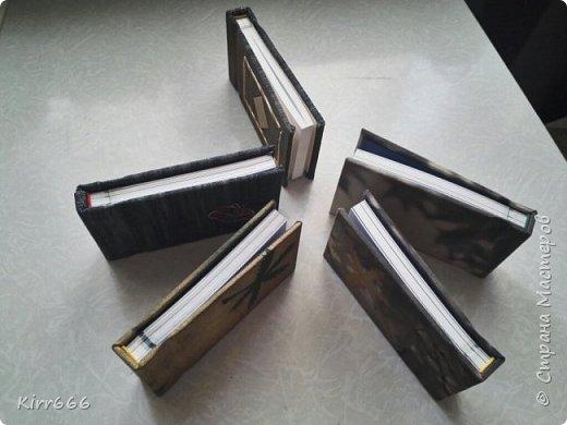 Блокноты из остатков расходных материалов для переплета.  фото 3