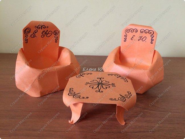 Кресло выполняется из цельного листа бумаги: фото 2