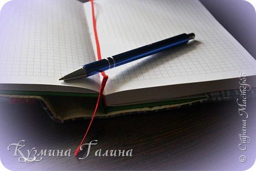 И вновь обложка с вышивкой в подарок. Ну бывает же: посетят тебя умные мысли,которые нужно срочно записать.Пусть это будет красиво.  фото 5