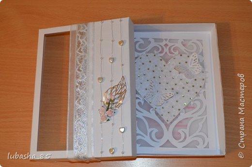 Свадебный набор: открытка в коробочке и коробочка под подарок фото 3