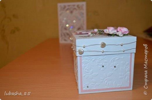 Свадебный набор: открытка в коробочке и коробочка под подарок фото 7