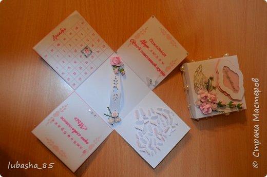 Свадебный набор: открытка в коробочке и коробочка под подарок фото 8