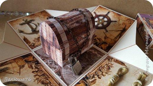 Добрый день Страна. Придумала коробочку  на  пиратскую тему на день рождения племяннику.    фото 6