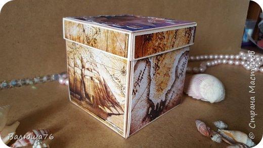 Добрый день Страна. Придумала коробочку  на  пиратскую тему на день рождения племяннику.    фото 1