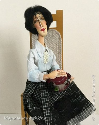 Заинтересовали женские образы Амедео Модильяни...решила попробовать. фото 1