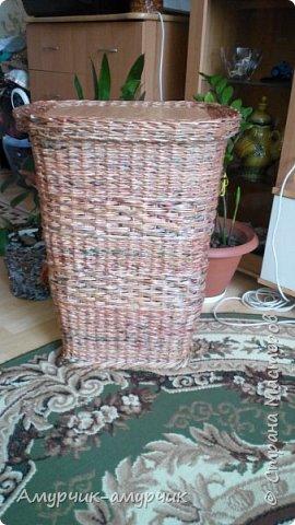 Карзина для белья  плетеная фото 7