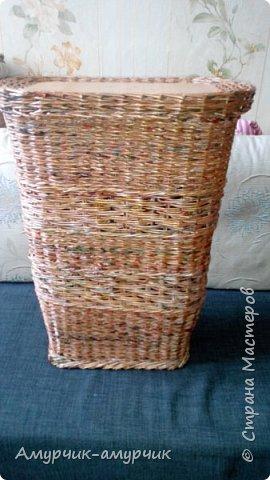 Карзина для белья  плетеная фото 1