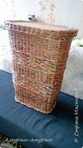 Карзина для белья  плетеная фото 2