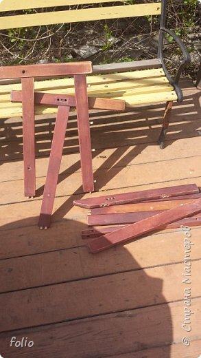 Честно говоря ожидала большего. Но у меня была цель, сделать мебель однотипную. Одинаковые стулья... одинаковые кресла Кому интересно, стулья вот здесь http://stranamasterov.ru/node/941866 фото 12