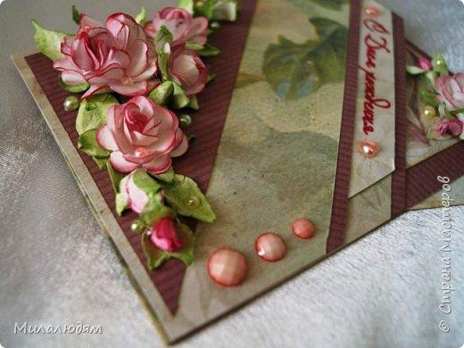 Всем здравствуйте! Сделала эту открытку давно, но до поездки выставить не успела. Это чистый лифтинг работы  ЛЮДямМИЛАя57  http://stranamasterov.ru/node/1038492. Это открыточка для любимой дочери на день рождения. Саше понравилась. фото 4