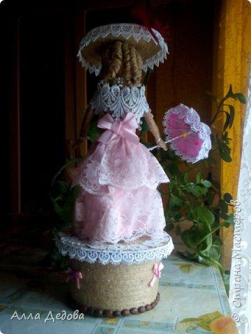 Я просто влюбилась в куклы из шпагата, это такой простор для фантазии. фото 2