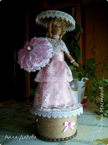 Я просто влюбилась в куклы из шпагата, это такой простор для фантазии. фото 1
