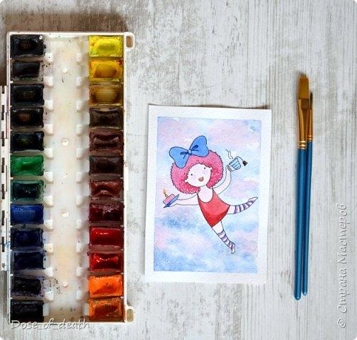 Началось всё с рисунков с дочкой. В ходе которых родилась девочка с рыжими волосами. Мне понравилась эта идея и я решила её развить. фото 5