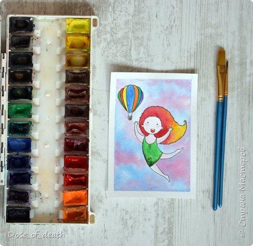 Началось всё с рисунков с дочкой. В ходе которых родилась девочка с рыжими волосами. Мне понравилась эта идея и я решила её развить. фото 6